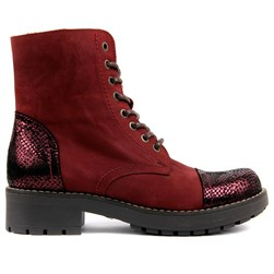 Sail Lakers - Bordeaux Genuine Leather Womens Boot