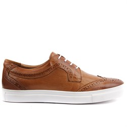 Tobacco Leather Mens Sneaker