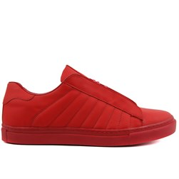 Red Leather Mens Sneaker