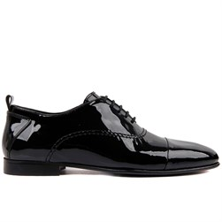 Black Patent Genuine Leather Mens Shoes